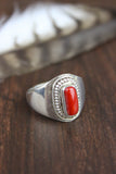 Antique Coral Passion Ring