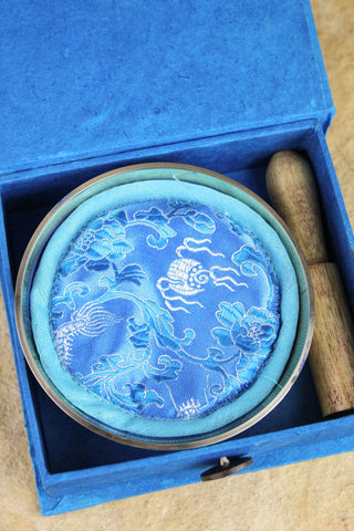 Blue Spiral Singing Bowl Gift Set