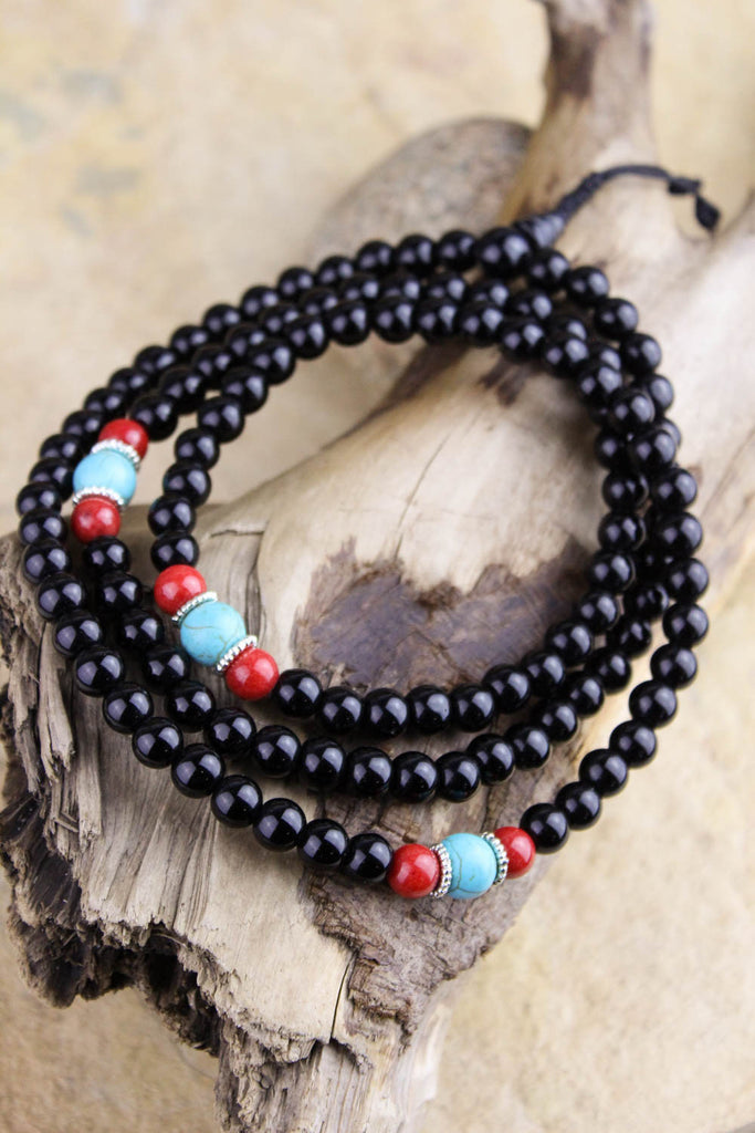 Black Onyx Protection and Defense Mala