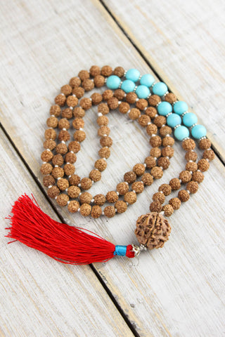 Rudraksha and Turquoise Awareness Mala