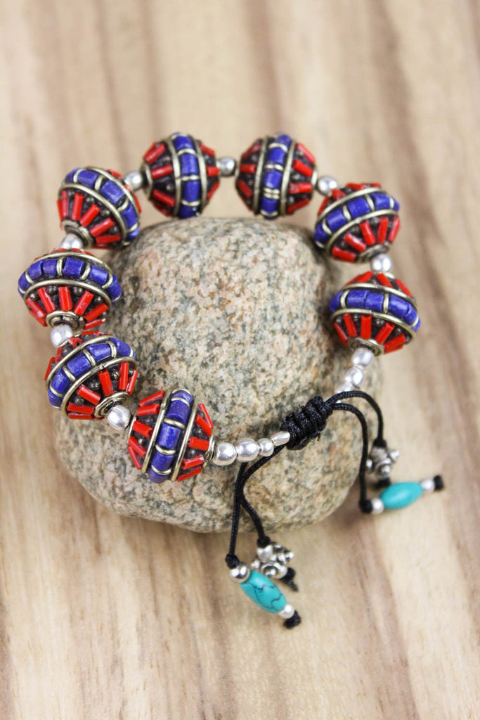 Large Traditional Beaded Bracelet