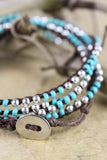 Silver and Turquoise Bracelet/Necklace Wrap