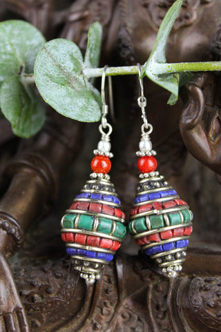 Traditional Tibetan Influence Earrings