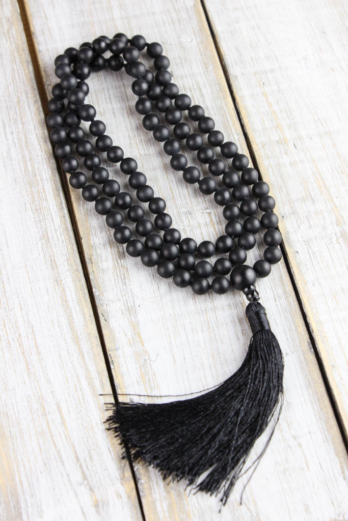 Matte Onyx Protection and Stability Mala