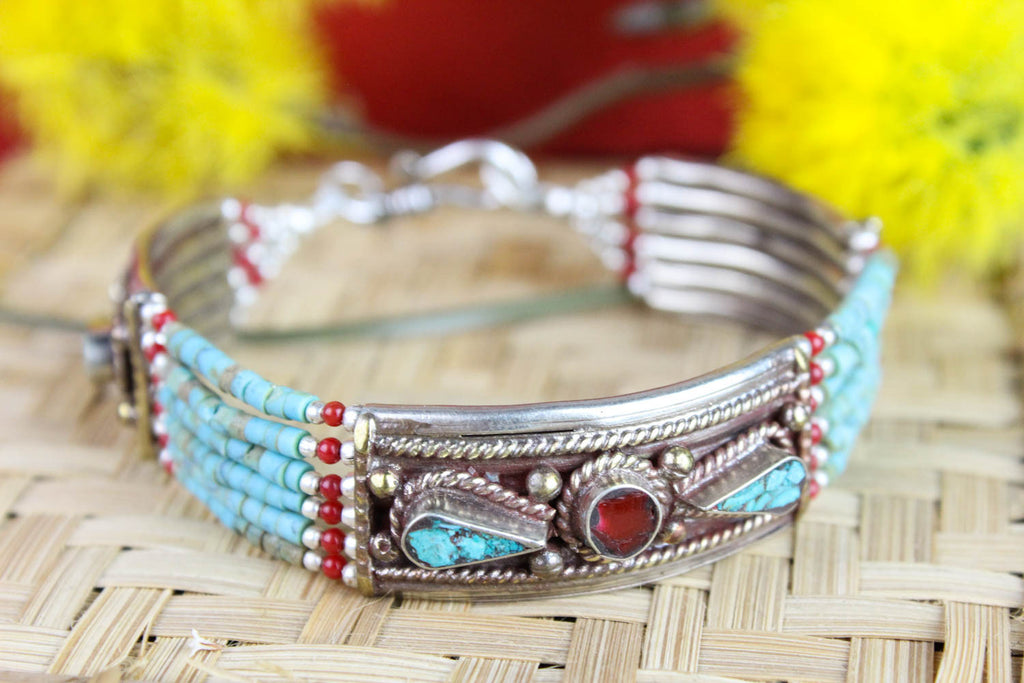 Turquoise and Carnelian Inspirations Bracelet