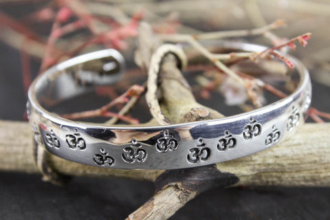 Power of Om Sterling Silver Bracelet