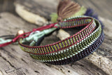Colorful Set of Three Beaded Bracelets