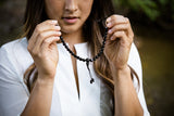 Beautiful Faceted Onyx Mala Necklace