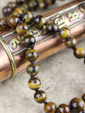Knotted Tiger Eye Powerful Protection Mala