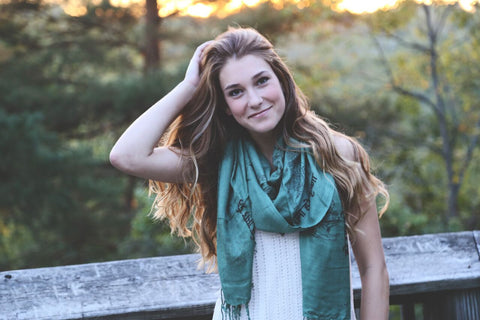 Forest Green Deity Scarf