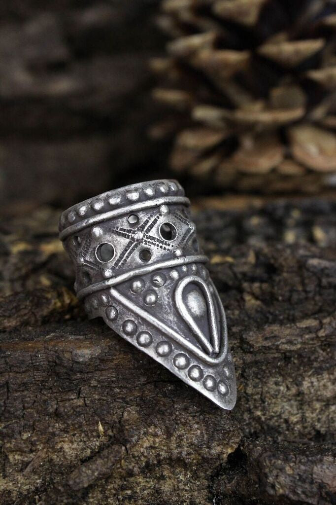 Vintage Shield Cuff Ring