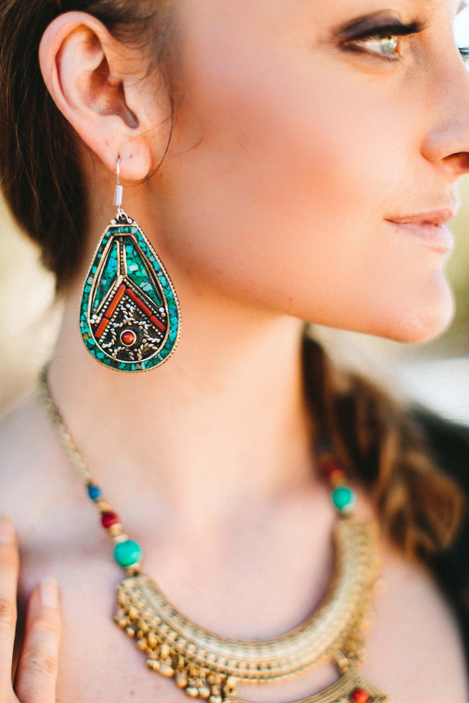 Big Bold and Beautiful Tibetan Earrings