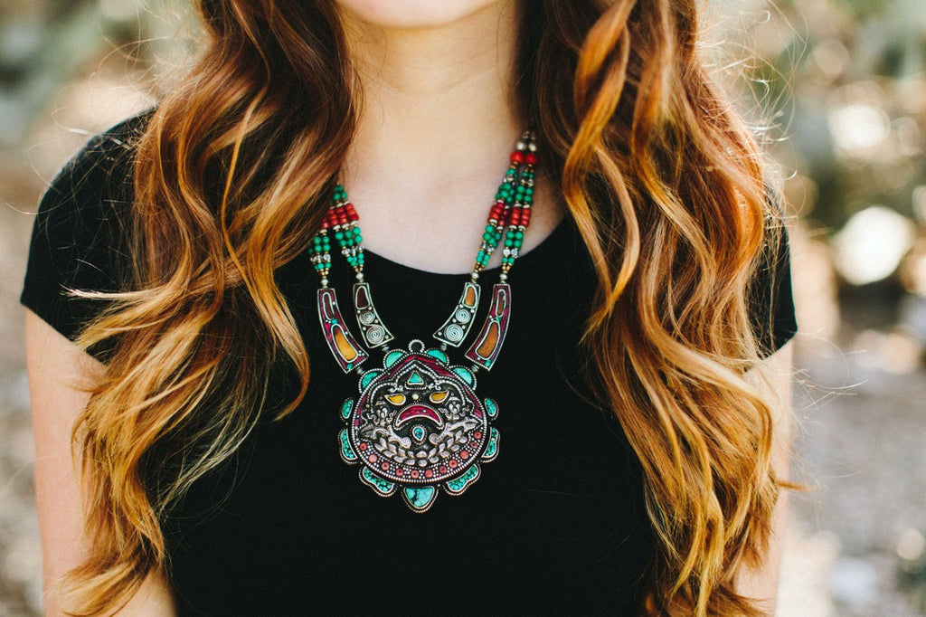 The Four Directions Tibetan Necklace