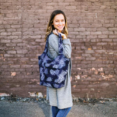 Blue Fern Tote Bag