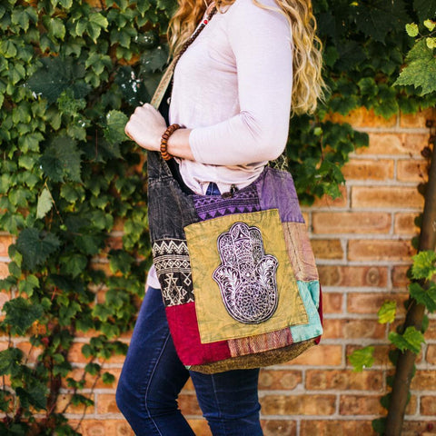 Hamsa Bliss Patchwork Bag