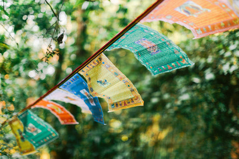 Our New Screen Printed Multi Print Prayer Flags