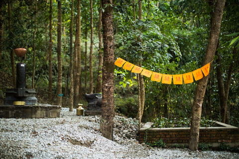 Cotton Shakyamuni Prayer Flags