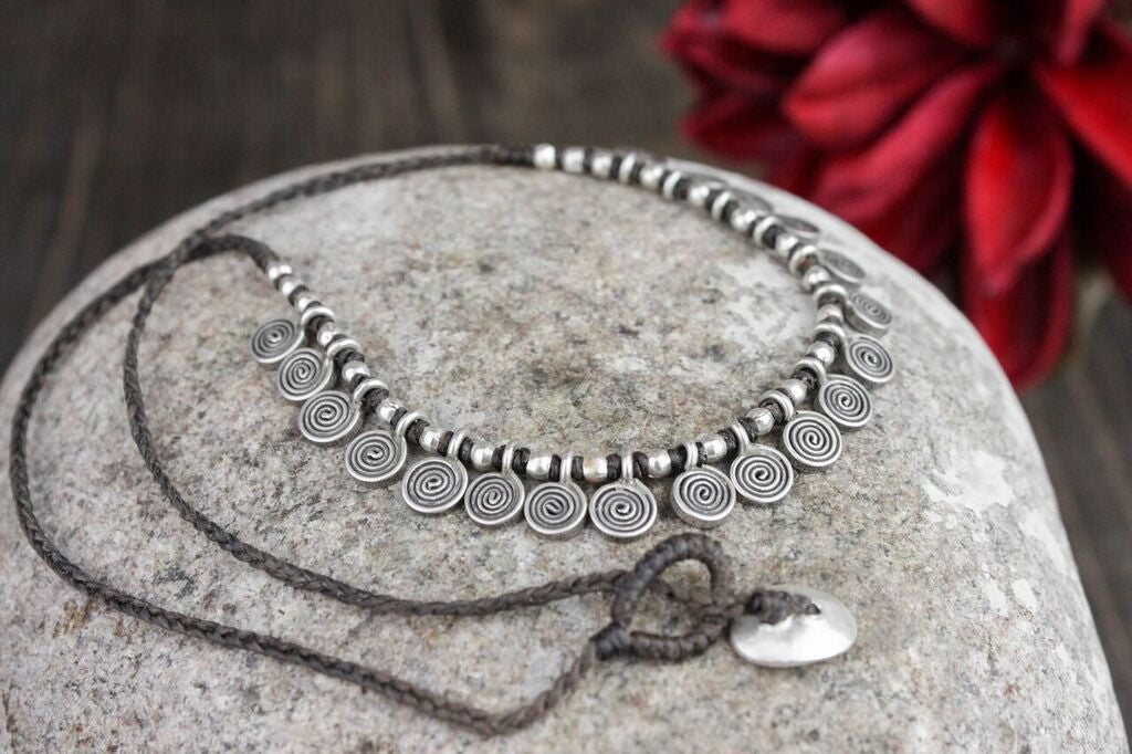 Silver Swirls Necklace