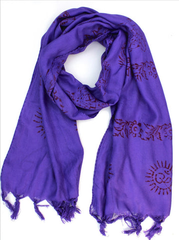 Purple Deity Scarf