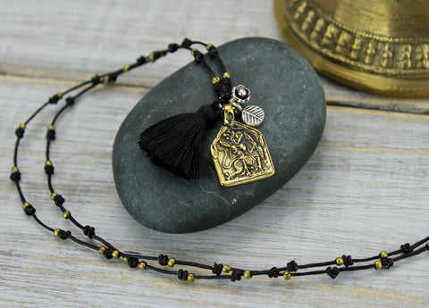 Thai Deity Tassel Necklace