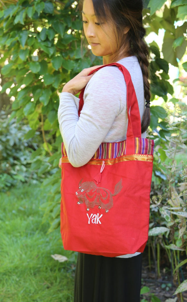 Red Bag Yak with Bhutanese Trim