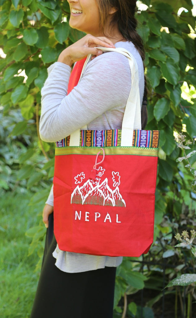 Nepal Shopping Bag with Bhutanese Trim