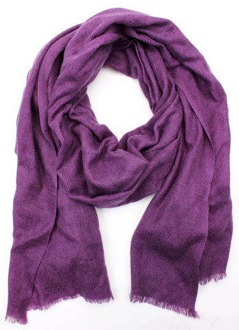100% Pashmina Dark Purple Shawl