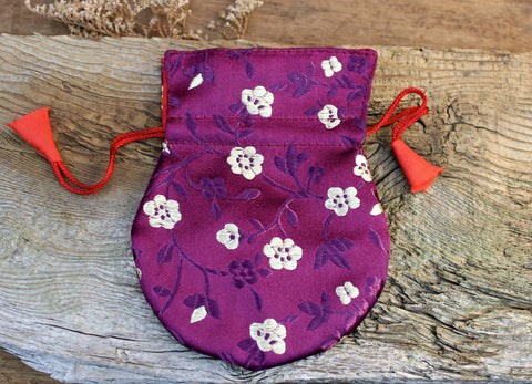 Purple Silk Mala Bag
