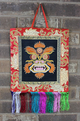 Brocade Mahakala Wall Hanging