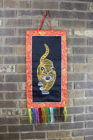 Tiger Embroidery Wall Hanging