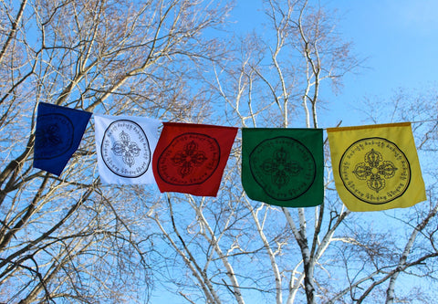 Set of 5 Dorje Compassion Prayer Flags