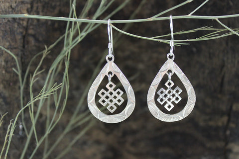 Eternal Knot Hanging Earrings