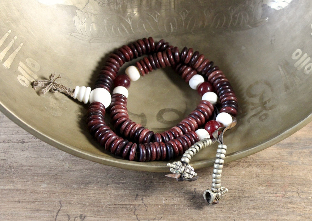 One of a Kind Bone Monk's Mala 18