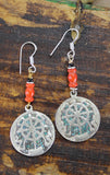 Amazing Tibetan Dharmachakra Earrings