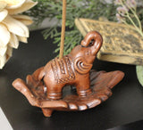 Hand Fired Clay Elephant Burner