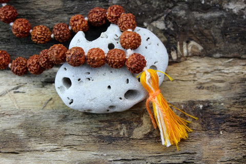 10mm Rudraksha Bead Knotted Mala