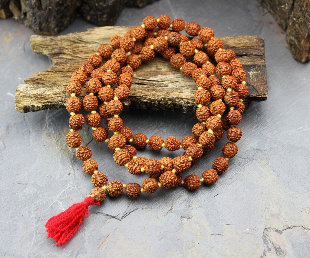 9mm Rudraksha Bead Knotted Mala