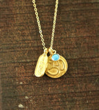 Reversible Gold Buddha Necklace
