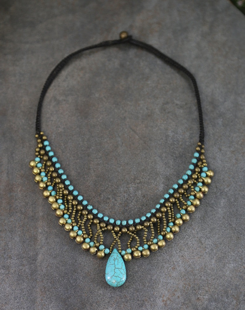 Sensational Turquoise Indo Tibetan Necklace