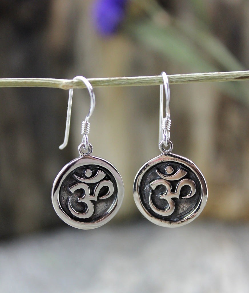 Round Om Earrings