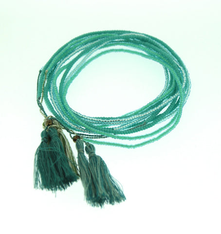Set of 3 Tassel Necklace or Wrap Bracelet