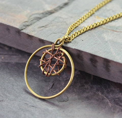 Handmade Fair Trade Dream Catcher Necklace