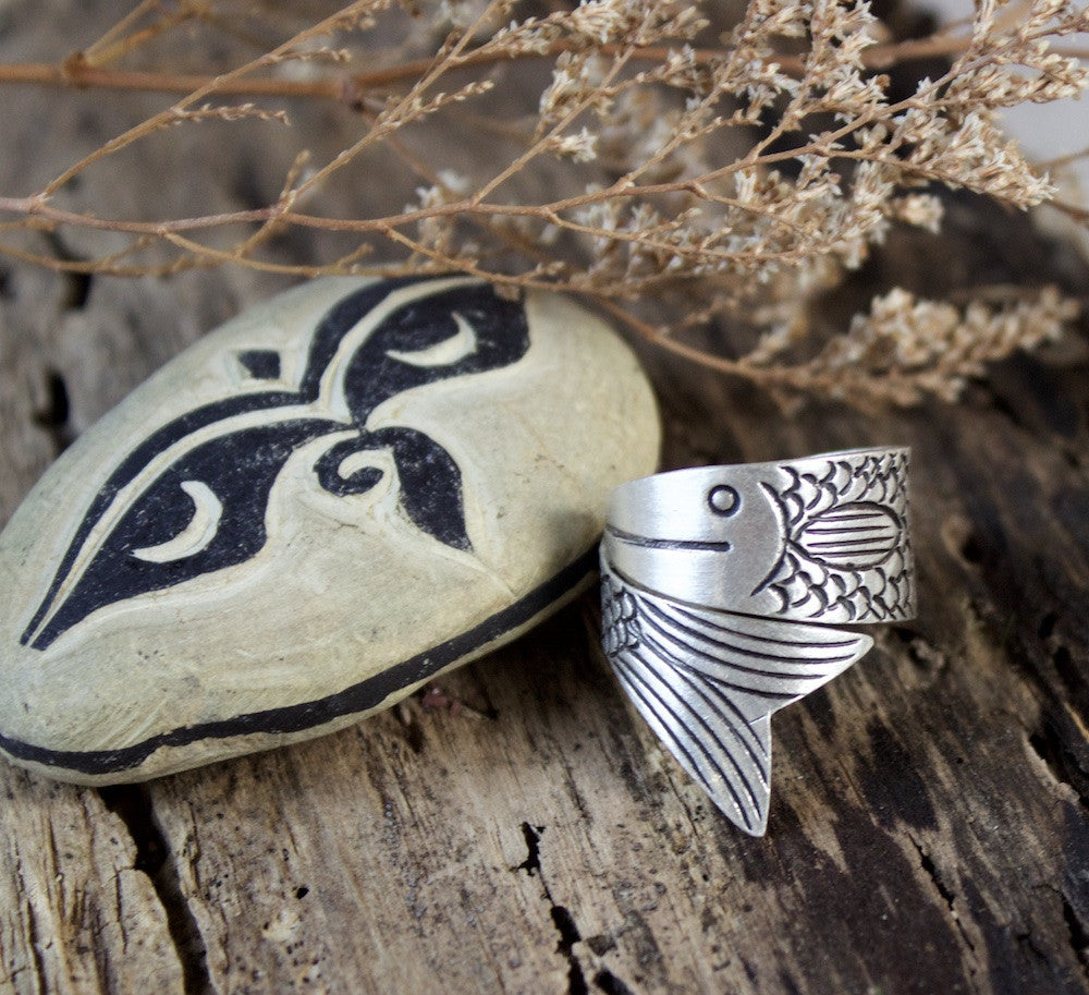 Courage Silver Wrap Ring