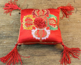 Ruby Red Singing Bowl Pillow