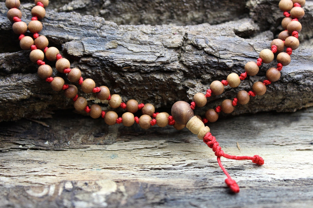 Hand Knotted Sandalwood 6mm Mala