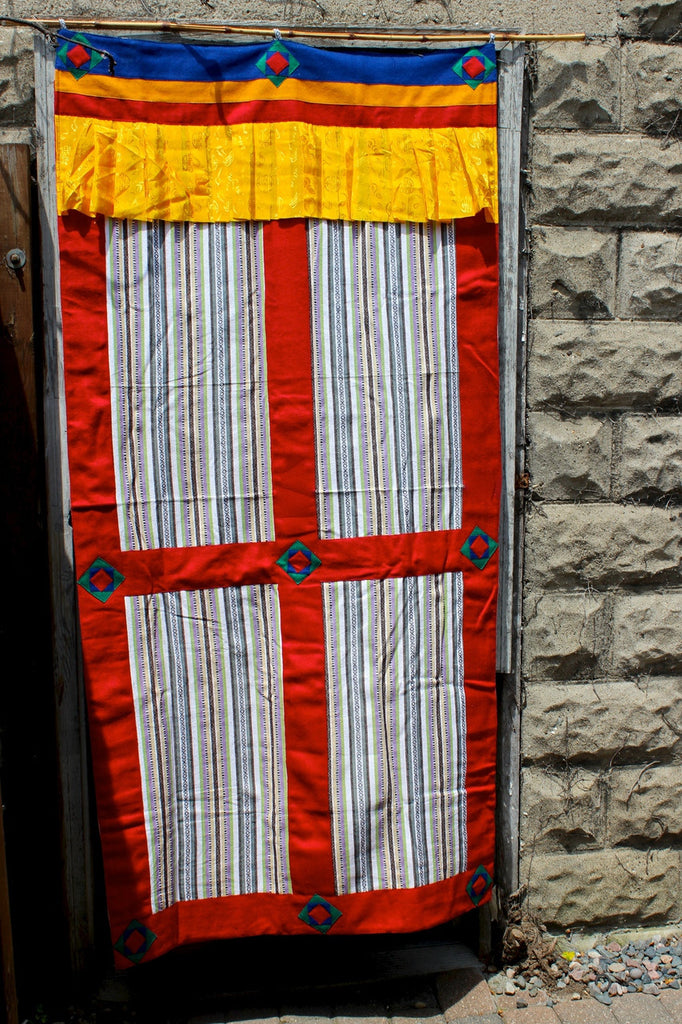 Hand Sewn Door Curtain
