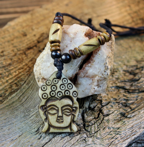 Bone Buddha Necklace