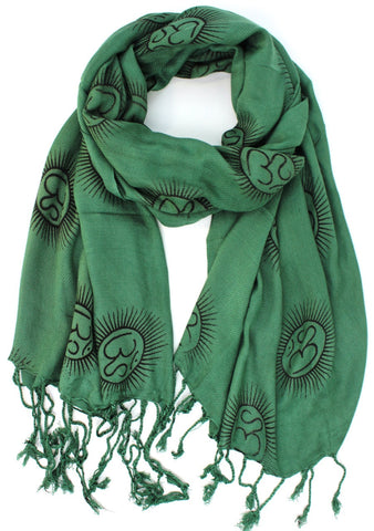 Forest Green Om Scarf