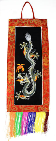 Miniture Dragon Embroidery Wall Hanging