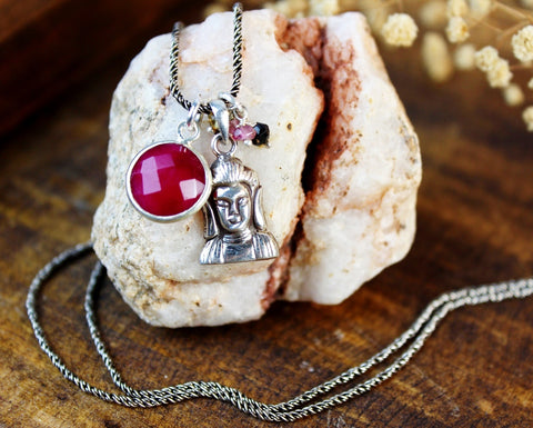 Buddha's Journey Ruby Necklace